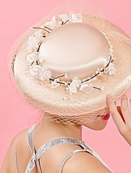 Tulle Chiffon Fabric Silk Net Headpiece-Wedding Special Occasion Party/ Evening Fascinators Hats 1 Piece