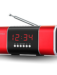D11 Radio portable Lecteur MP3 Carte TFWorld ReceiverRouge