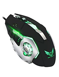 ZERODATE macro definition silent mechanical mouse 6D full key macro definition set four-color luminous gaming mouse support desktop computer notebook
