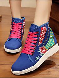 Women's Sneakers Comfort Denim Summer Casual Comfort Blue Ruby Flat