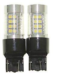 Sencart 2pcs 7443 w21 21w w3x16q bulbe led voiture arrière tourner ampoules inverses (blanc / rouge / bleu / blanc chaud) (dc / ac9-32v)