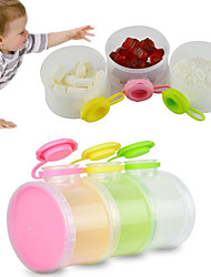3 Layers Baby Milk Powder Dispenser Food Storage Container Box Infant Feeding Bottles