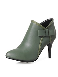 Feminino Botas Caminhada Conforto Plataforma Básica Botas da Moda Curta/Ankle Sapatos formais Couro Outono InvernoCasamento Casual Social