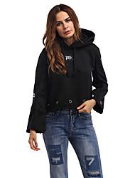 Sweatshirt Femme Sports Vacances Sortie Décontracté / Quotidien simple Chic de Rue Lettre Col Arrondi Micro-élastique PolyesterSans