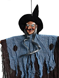 Halloween New Witch Ornaments Hanging Ghost Voice Touch The Props Haunted House Bar Scene Layout