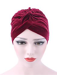 Для женщин Шапки Широкополая шляпа,Весна/осень Зима Хлопок С принтом Чистый цвет