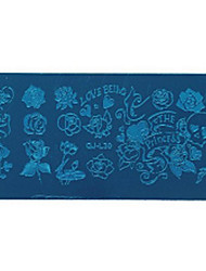 Nail Tools Printing Template Blue Film Printing Plate / Geometric Lace Animal Flowers Pattern
