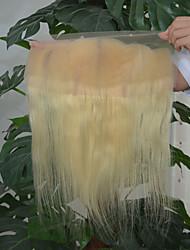 Роскошные бразильские девственные человеческие волосы 613 блондинка кружева передняя закрытая свободная часть тела волна 13x4 отбеленные