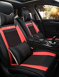 Новый автомобиль сиденье подушки кожаный чехол сиденья четыре сезона общий лед все вокруг пять мест на 2 сиденья подголовник спинка черный