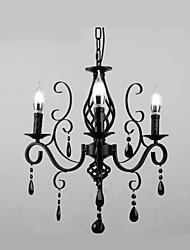 Lampe à cristaux liquides 3 feux salon moderne simple salon de chambre fantaisie