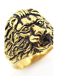 Men's Midi Rings Band Rings Animal Design Stainless Steel Lion Jewelry For Birthday Casual Evening Party Stage Club