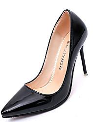 Damen Schuhe Echtes Leder PU Herbst Winter Komfort Pumps High Heels Für Normal Weiß Schwarz Grau Rot Rosa