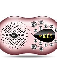 Q5 Radio portable Radio FM Enceinte interne Carte SDWorld ReceiverOr Rose
