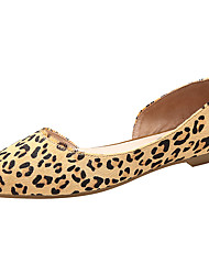 Women's Loafers & Slip-Ons D'Orsay & Two-Piece Comfort Light Soles Horse Hair Spring Shoes Casual Pointed Toe Fashion Sneakers  Sexy Leopard Flats