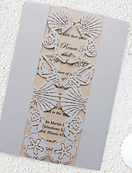 Beach Wedding Invitation Sea Party Invitations Starfish Invitation Cards - Set of 50