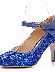 Feminino Sapatos De Casamento Plataforma Básica Renda Paetês Seda Primavera Outono Casamento Social Festas & Noite Presilha ElásticoSalto