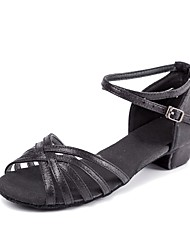 """Kids' Kids' Dance Shoes Patent Leather Sandals Heels Training Buckle Low Heel Gold Black Silver 1"""" - 1 3/4"""" Customizable"""