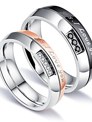 In the summer of 2017 the hot products of the classic zircon ring titanium steel lovers ring