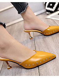 Women's Clog & Mule Comfort Summer PU Casual Blushing Pink Yellow Beige Black 2in-2 3/4in