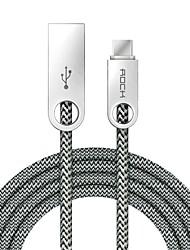 ROCK USB 2.0 Câble, USB 2.0 to USB 2.0 Type C Câble Mâle - Femelle 1.0m (3ft)