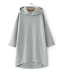 Women's Going out Hoodie Solid Hooded Micro-elastic Others Long Sleeve Spring Fall