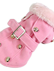 Dog Coat Dog Clothes Casual/Daily American/USA Blushing Pink Ruby Yellow Gray Beige