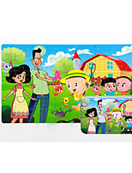Jigsaw Puzzles Wooden Puzzles Building Blocks DIY Toys Cat House Cartoon Other Flower