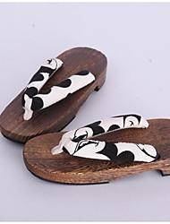 Femme Sabots & Mules Sabots & Mules Coton Tissu Printemps Automne Décontracté Noir/blanc Moins de 2,5 cm