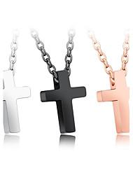 Жен. Ожерелья с подвесками Цирконий В форме сердца Крестообразной формы Титановая стальЛюбовь Мода Крест Pоскошные ювелирные изделия