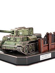Rompecabezas Kit de Bricolaje Puzzles 3D Bloques de construcción Juguetes de bricolaje Tanque Papel