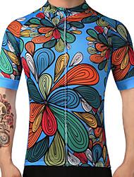 FUALRNY® Велокофты Муж. С короткими рукавами Велоспорт Джерси Быстровысыхающий Воздухопроницаемость 100% полиэстер Лето Горные велосипеды