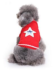 Cane Maglioni Abbigliamento per cani Casual Stelle