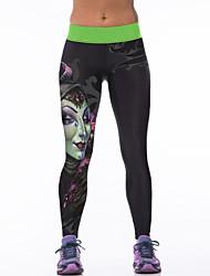 Pantalones de yoga Medias/Mallas Largas Transpirabilidad Eslático Cintura Media Eslático Ropa deportiva Mujer Yoga Jogging Ejercicio y
