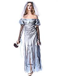 Une Pièce/Robes Costumes de Cosplay Pour Halloween Ange et Diable Esprit Zombie Cosplay Fête / Célébration Déguisement d'Halloween Rétro