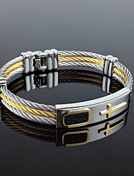 The individual character of gold titanium steel bracelet black gallstone health care