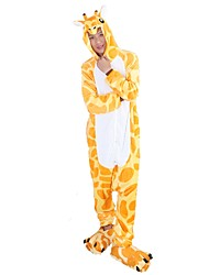 kigurumi Pyjamas Girafe Collant/Combinaison Chaussures Fête / Célébration Pyjamas Animale Halloween Mode Motif Animal Brodée Flanelle