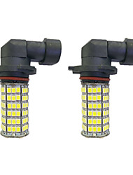 4w 9005 9006 h8 h11 120smd2835 phare / lampe antibrouillard pour voiture blanche dc12v 2pcs