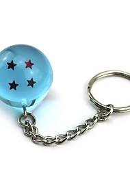 Inspired by Dragon Ball Son Goku Anime Cosplay  1 Stars Crystal Blue Ball Key Ring of  Dragon Ball Z Balls Key Buck 11CM