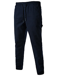 Men's High Rise Micro-elastic Chinos Pants,Chinoiserie Loose Solid