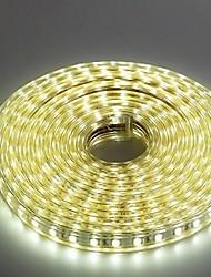 5m 220v higt brilhante levou faixa de luz flexível 5050 300smd três cristal luzes barra de luz à prova de água do jardim com plugue de