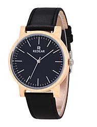 Муж. Жен. Модные часы Часы Дерево Японский Кварцевый деревянный Натуральная кожа Группа С подвесками Повседневная Черный