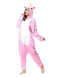 kigurumi Pyjamas Unicorn Collant/Combinaison Fête / Célébration Pyjamas Animale Halloween Rose Animal Kigurumi Pour Unisexe Halloween