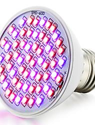 4W E26/E27 Luci LED per la coltivazione 60 SMD 3528 360-430 lm Rosso Blu Impermeabile V 1 pezzo