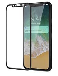 Vidrio Templado Protector de pantalla para Apple iPhone X Protector de Pantalla Frontal Alta definición (HD) Dureza 9H Borde Curvado 3D