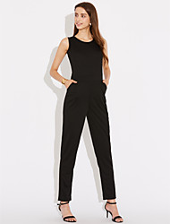 Women's Going out Holiday Sexy Summer Tank Top Pant Suits,Solid Halter Micro-elastic