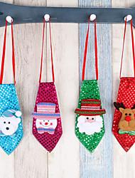 4pc adornos navidad adornos niños pequeño escuela decoraciones pequeños regalos creativo pequeño regalos corbata luminosa pajarita