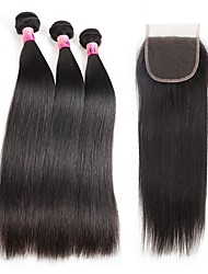 Cabelo Humano Ondulado Cabelo Brasileiro Liso 1 ano 4 Peças tece cabelo kg Mechas Rápidas Tecidas