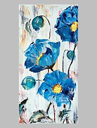 Pintados à mão Floral/Botânico Artistíco Abstracto Ao ar Livre 1 Painel Tela Pintura a Óleo For Decoração para casa