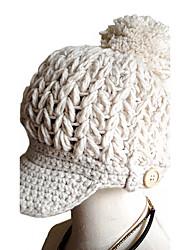 Для женщин Шапки Узор Головные уборы На каждый день Изысканный и современный Сохраняет тепло Вязаная одежда Широкополая шляпа Лыжная