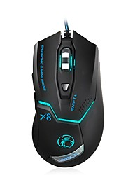 Usb Wired Gamer Mouse 3200/2400/1200 dpi optique led 7 boutons usb wired gaming mouse pour pc jeu